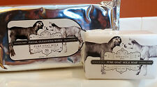Beekman 1802 Pure Goat Milk Soap 9oz and Facial Cleansing Wipes 30 ct CoQ10 Aloe