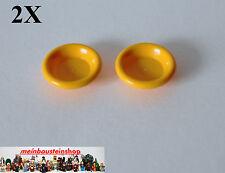 2X Lego Friends Belville 6256 Teller Dish 3X3 helles Orange Bright Light Ora NEU