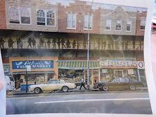 1980s Coney Island Av BROOKLYN GRAVESEND RARE COLOR PHOTO Kingsway Theater MURAL