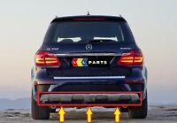 NEW GENUINE MERCEDES BENZ MB GL CLASS X166 AMG REAR BUMPER CHROME DIFFUSER