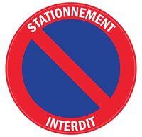 Autocollant stickers interdit de stationner - Stationnement interdit