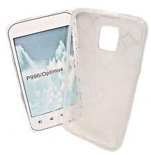 Silikon TPU Handy Hülle Foggy für LG Optimus Speed P990  + Displayschutzfolie