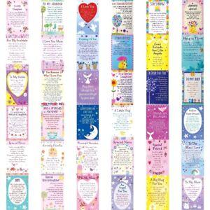 ❤Wallet Card Heartwarmers Keepsake Sentimental Inspirational Verse Family Cards❤