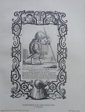 1916 RÖMISCHE SCHWEIZER GARDE deutsche Karikatur alter Druck old print