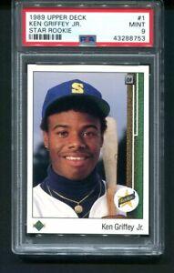 1989 Upper Deck KEN GRIFFEY Jr. Rookie RC #1 PSA 9