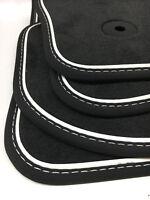 $$$ Original Lengenfelder Fußmatten für VW Golf 7 VII GTI GTD + Nubuk WEIß + NEU