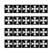 20 Sticker 1cm Iron Cross Ek Großkreuz Symbol Mini Sticker RC Modelling