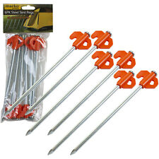 Milestone Camping Heavy Duty Galvanised Steel Pegs Tents Nets Gazebos Stakes