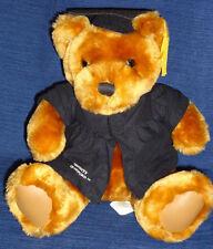 "University of Hartford GRADUATE Graduation plush 9"" Teddy Bear w/Cap & Gown"