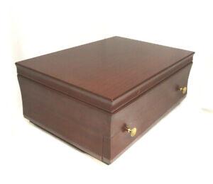 Wood Tarnish Resistant Silverware Flatware Storage Chest Box Wooden Drawer 88