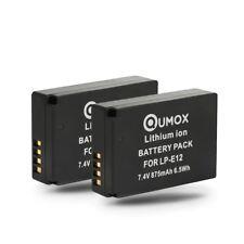 2x QUMOX Replacement LP-E12 Battery for Canon EOS M, M50, M2, M100, M10, 100D