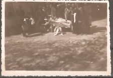 Post Mortem little child open coffin casket vintage real photo 1940's # 1bc