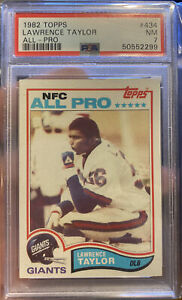 1982 Topps Football Lawrence Taylor ROOKIE RC ALL-PRO #434 PSA 7 Near Mint HOF