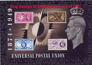 GB KGVI 1949 Nice Display of UPU Universal Postal Union Set Mint