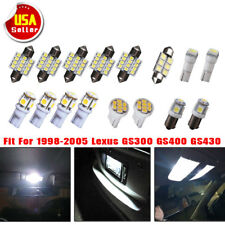 16X Super White LED Light Bulbs Interior Package Kit for 98-05 Lexus GS300 GS400