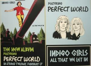 Indigo Girls 2004 All That We Let In 2 sided promo poster Flawless New Old Stock