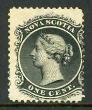 Canada 1860 Nova Scotia 1¢ Queen Victoria Yellow Paper Sc 8a Mint F189