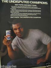 "1988 Pepsi Ad-8.5 x 10.5""Diet Pepsi-Mike Tyson-The Undisputed Champions-Original"
