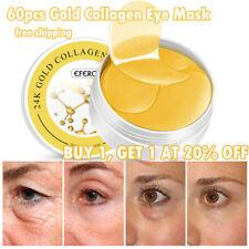 60pcs Gold Eye Patch Mask Collagen Anti Wrinkle Eye Bags Dark Circles Puffiness