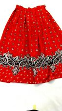 KORET WOMENS RED POLYESTER PLEATED PAISLEY SKIRT SIZE 8