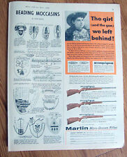 1960 Marlin 22 Rifle Gun Ad  Model 81-C 80-C 101 Bolt Action Single Repeater