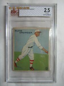 ALVIN CROWDER 1933 Goudey #122 Washington Senators - Graded BGS Beckett 2.5 G-VG
