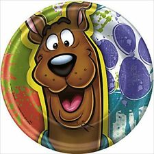 SCOOBY DOO Paint Splatter SMALL PAPER PLATES (8) ~ Birthday Party Supplies Cake