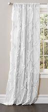 "Lush Decor Avon Crisscross Gypsy Ruffle Window Curtain Panel 54"" x 84"", White"