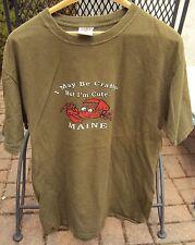Hard Rock Cafe MAINE I MAY BE CRABBY TEE Shirt 100% COTTON SIZE MEDIUM