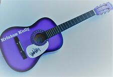 KRISTEN KELLY signed (COUNTRY SUPERSTAR) Acoustic guitar W/COA *EX OLD MAN*