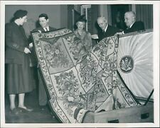 Rug Made by Queen Mary of England Original News Service Photo