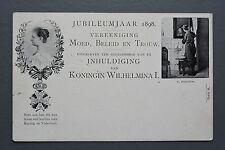 R&L Postcard: 1898 Dutch Royalty, Jubilee Koningin Queen Wilhelmina