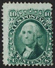US # 68a *MINT NO GUM* { DARK GREEN VARIETY } 10c WASHINGTON OF 1861 CV$ 550.00