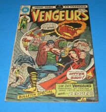 1978 THE AVENGERS ( LES VENGEURS ) #58-59 MONSTER FRANKENSTEIN HÉRITAGE FRENCH