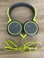 Sony MDR-XB400 XB Series Headphones Extra Bass Green/Grey Stereo Over Ear