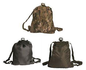 Mil-Tec Folding / Roll up day sack / back pack Multitarn, Green, Black