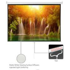 100 In 43 Projector Projection Screen Pull Down 13 Gain Home Theater Movie