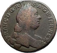1762 AUSTRIA Holy Roman Emperor Francis I Antique Kreuzer Austrian Coin i74561