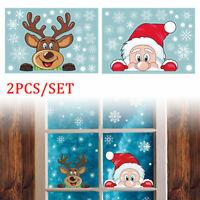 Weihnachtsdeko 2 Blätter Fensterbilder Weihnachten Aufkleber Fenstersticker PVC