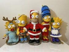 The Simpsons HOLIDAY Full Set Plush from Applause 2003