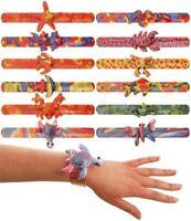 12 Animal Snap Bracelets - Pinata Toy Loot/Party Bag Fillers Wedding/Kids