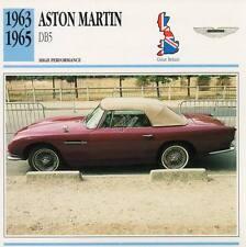 1963-1965 ASTON MARTIN DB5 #2 Classic Car Photo/Info Maxi Card