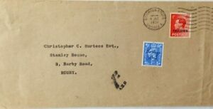 1951 BRIGHTON UNDERPAID TANGIER STAMP POSTAGE DUE INSCRIBED REGULAR STAMP COVER