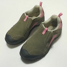 Merrell Chameleon 4 Moc Kids Girls Youth Size 5 Brown Pink Slip On Hiking Shoe