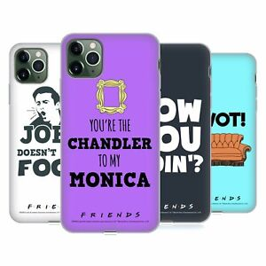 OFFICIAL FRIENDS TV SHOW QUOTES SOFT GEL CASE FOR APPLE iPHONE PHONES