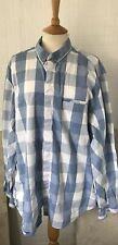 Mens Pale Blue Multi Check shirt by DKNY XXL
