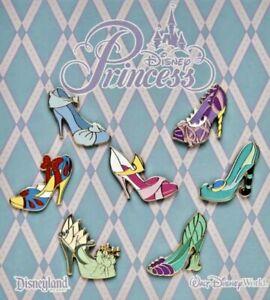 NEW Sealed Disney Parks Princess Princesses Shoes Trading Pins Complete Set