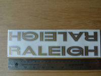 VINTAGE BIKE BICYCLE RALEIGH DOWNTUBE SILVER AND GOLD STICKER NOS CAMPY 166