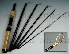 2.1m 6 Section Portable Travel Fishing Rod Spinning Rods Carbon Fishing Pole