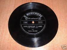 Paola Orlandi  ( Vivo perchè ti amo ) Disco Flexi disc  IL MUSICHIERE